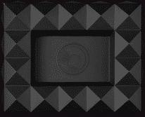 COLIBRI cigar ashtray metal Quasar black